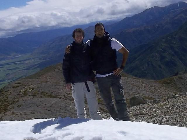Con el Ale, cerca de la cima