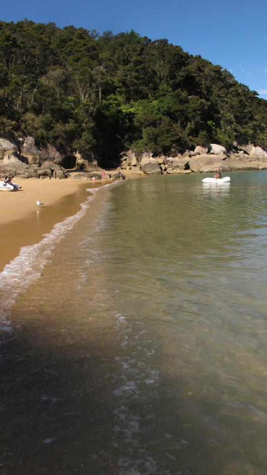 El agua estaba helada, no me metí ni una sola vez